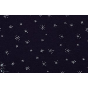 jersey bio Star Bleu Chat Chocolat elasthane We're all stars – night blue