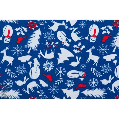 Jersey bio Crazy Christmasicons Lillestoff noel bleu fête enfant