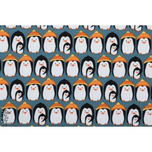 Freezing Penguins, blau Summersweat Lillestoff