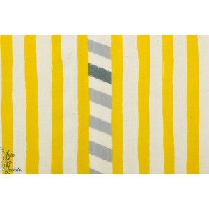 Double gaze Line Moutarde par Echino pour Kokka