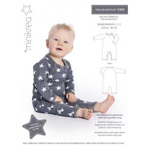 Patron minicréa Raglan Bodysuite 114 bébé couture pyjama