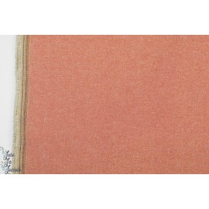 Toile de Lin vieux rose métalisée robert kaufman  Essex Yarn Dyed Metallic