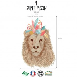 transfet Super Bison .Lion thermocolant animaux