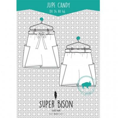 Patron couture  Jupe Femme Candy du 34 au 46 jupe super bison