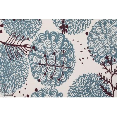 Jacquard Sweat Chrysanthema Lillestoff femme graphique mode fleur bio