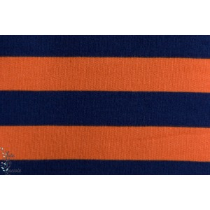 SWEAT LILLESTOFF  RAYE BLEU- ORANGE