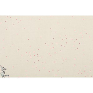 Popeline Cotton&Steel Counting Star rose et blanc