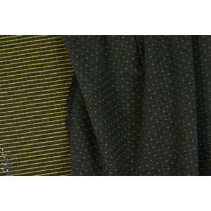 Sweat Quilt Double face Noir jaune