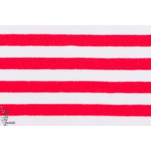Jersey Bio rayé rouge/Blanc GOTS-certifié - Lillestoff