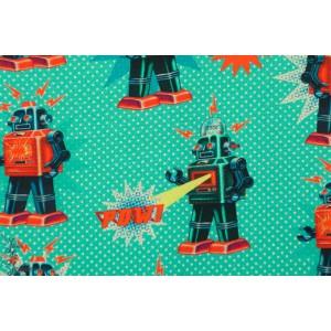 Sweat Fiona Hewitt Robot garçon rétro vintage vert