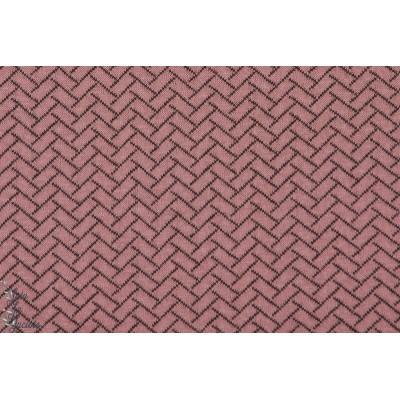 Stepper Altrosa knit Optik Bio Lillestoff mattelassé sweat rose noir double face
