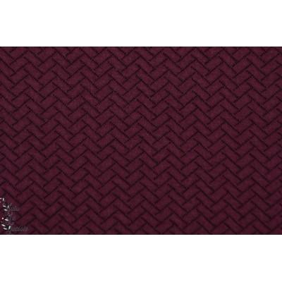 Stepper Weinrot knit Optik Bio Lillestoff lie de vin rouge violet grenat sweat matelassé