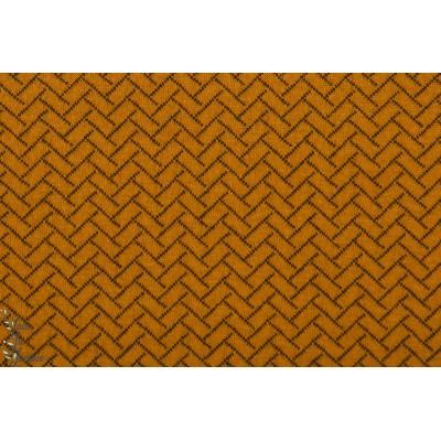 Stepper Bio Lillestoff Zimtorange knit optic orange sweat matelassé