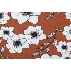 Jersey Bio Anémone rusty maron elvelyckan design fleur