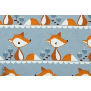 Jersey bio Little Fox en gris renard graphique enfant stoffonkel