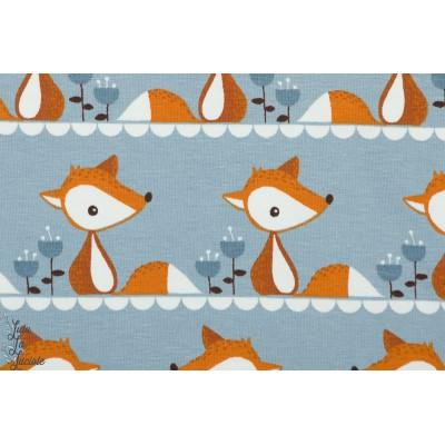Jersey bio Little Fox en gris renard graphique enfant stoffonkel
