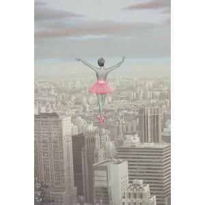 Panneau Digital Stenzo Danser sur New York en rose