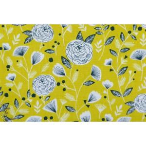 Popeline FLOCK1303 Floral Dashwood fleur jaune bethan janine