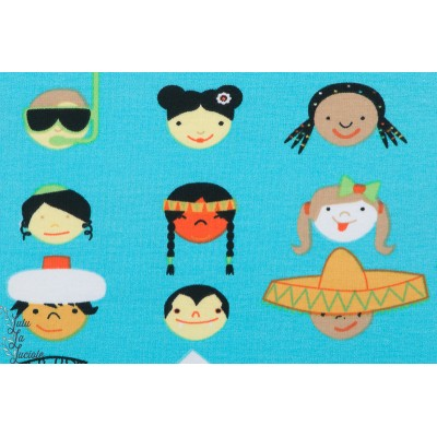Jersey Bio Lillestoff Kidsfacevisage enfant du monde