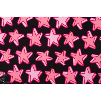 Jersey Bio Lillestoff Starlet rose étoile