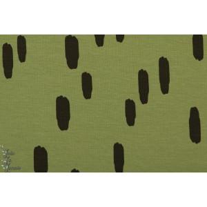 Summersweat Bio Pieks lillestoff grzphique vert olive trait
