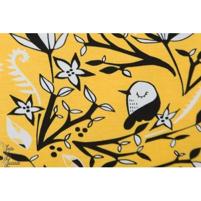 Jersey bio Paapii BIRDS Yellow jardin oiseau jaune