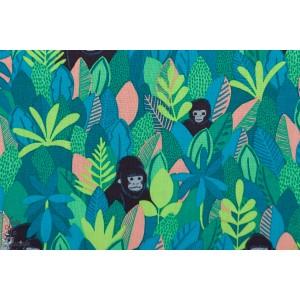 Popeline Blend  Mountain Gorilla Green vert gorille bwindi Forest
