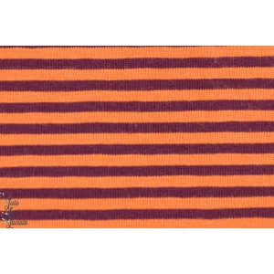 Jersey rayé Orange Aubergine