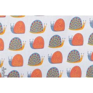 Popeline Rico design  Design escargots jardin graphique