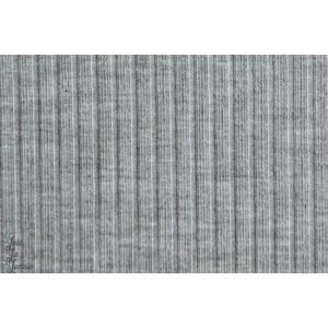 Rippjersey, grau-meliert, gris