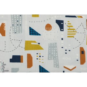 Popeline Dashwood New Horizons 1309 vue du ciel graphique ali Brookes Plaid patch mavada