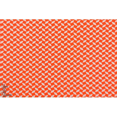 Popeline Petit Pan Pépin Orange graphique