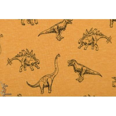 Sweat Dinos Dream moutarde dinosaure graphique enfant garçon boy mec couture animaux