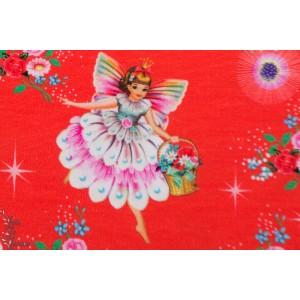 Jersey fairy princess fiona Hewitt rétro vintage fée princesse rouge