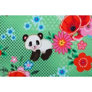 Sweat  Happy pandas fiona Hewitt rétro vintage vert fleur peace