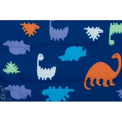 Matelassé Imperméable Dinosaures enfant bleu couleur garçon
