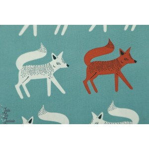 Popeline AGF Sneaky Little Foxes  CAmpsite - petits renards
