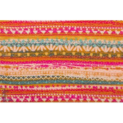 Popeline AGF Trinket Blush - Indie Folk rayure bohème hippie
