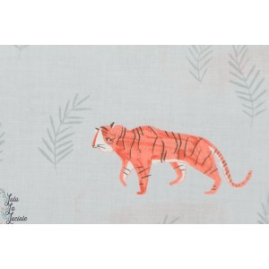 Popeline Dear Stella 716 - tigres -animaux patch plaid mavada quilting