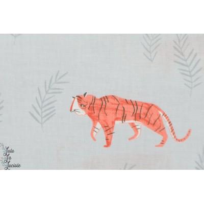 Popeline Dear Stella 716 - tigres -animaux patch plaid mavada quilting