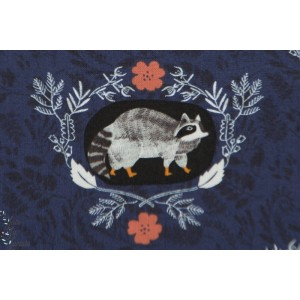 Popeline Beyond the brush navy Dear Stella - SRR519 - NAVY