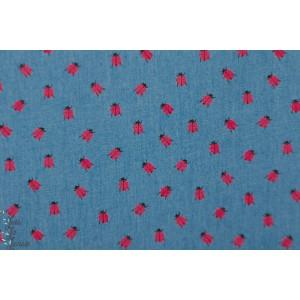jean coccinelle graphique bleu