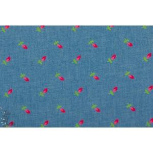 Jean Petite fleur bleu