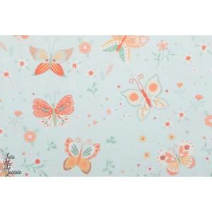 Popeline Studio E Papillon bleu bunny tales lapin nature