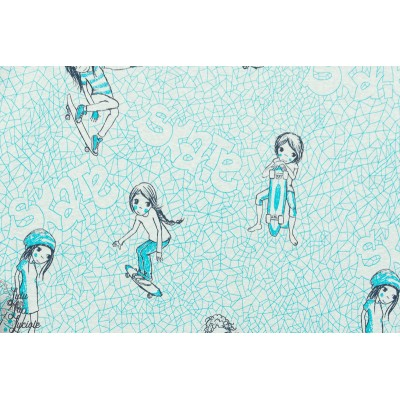 Jersey Bio Skategirls Lillestoff, Design: Susanne Bochem/ SUSAlabim pour lillestoff.