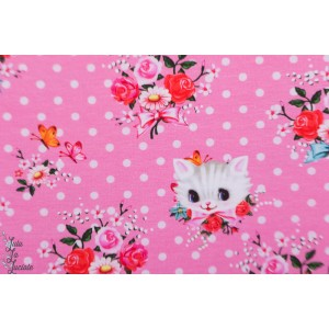 jersey Fiona Hewitt chatons roses rètro vintage