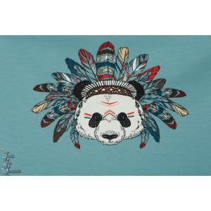 panneau jersey Panda Indien menthe