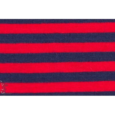 Jersey Rayé rouge/Bleu nuit lillestoff
