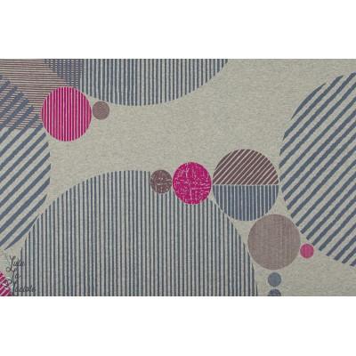 Summersweat Bio kreise Lillestoff graphique gris rose abstrait femme magazine