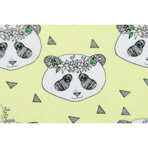 jersey bio Bloome Flower Panda Yellow jaune animaux enfant